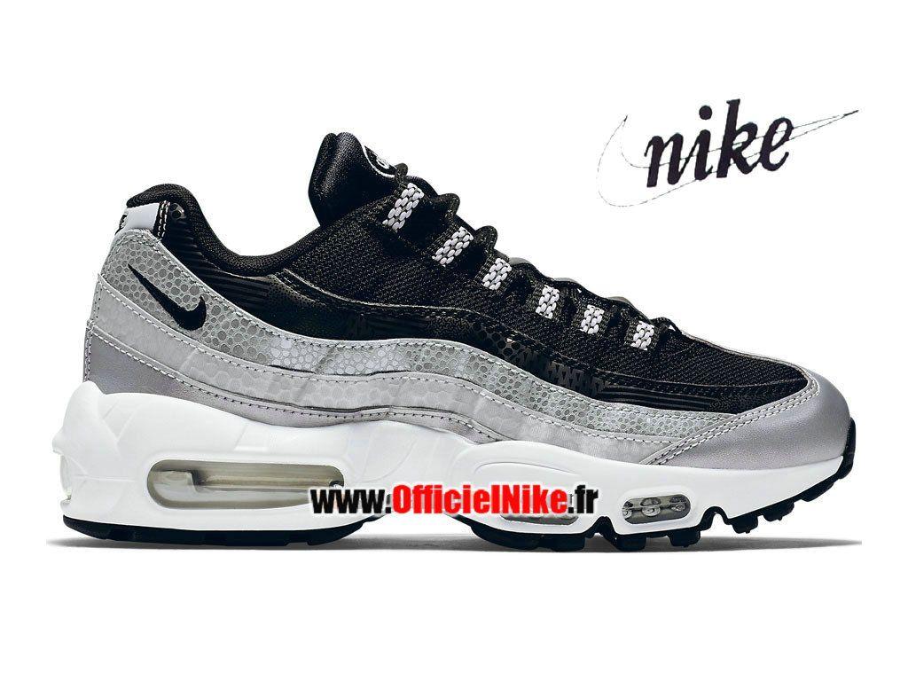 Homme Chaussures Nike Air Max 95 QS Platine métallisé/Blanc/Noir 814914-001H