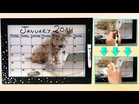 DIY back to school ❤ Dry erase calendar! Easy  customizable