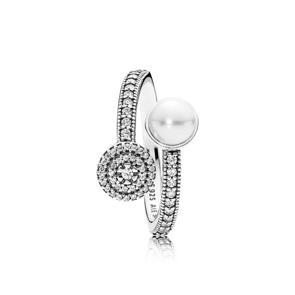 17c67af89 Luminous Glow Ring, White Crystal Pearl and Clear CZ - 191044CZ ...