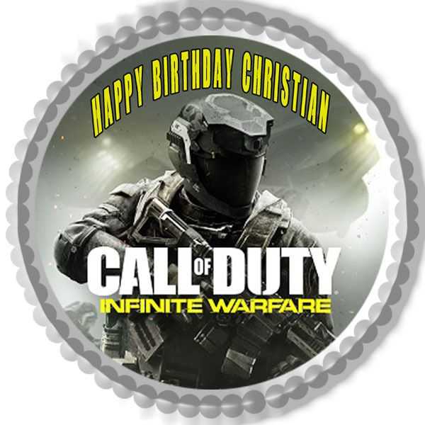 Call Of Duty Infinite Warfare Edible Birthday Cake Topper Or