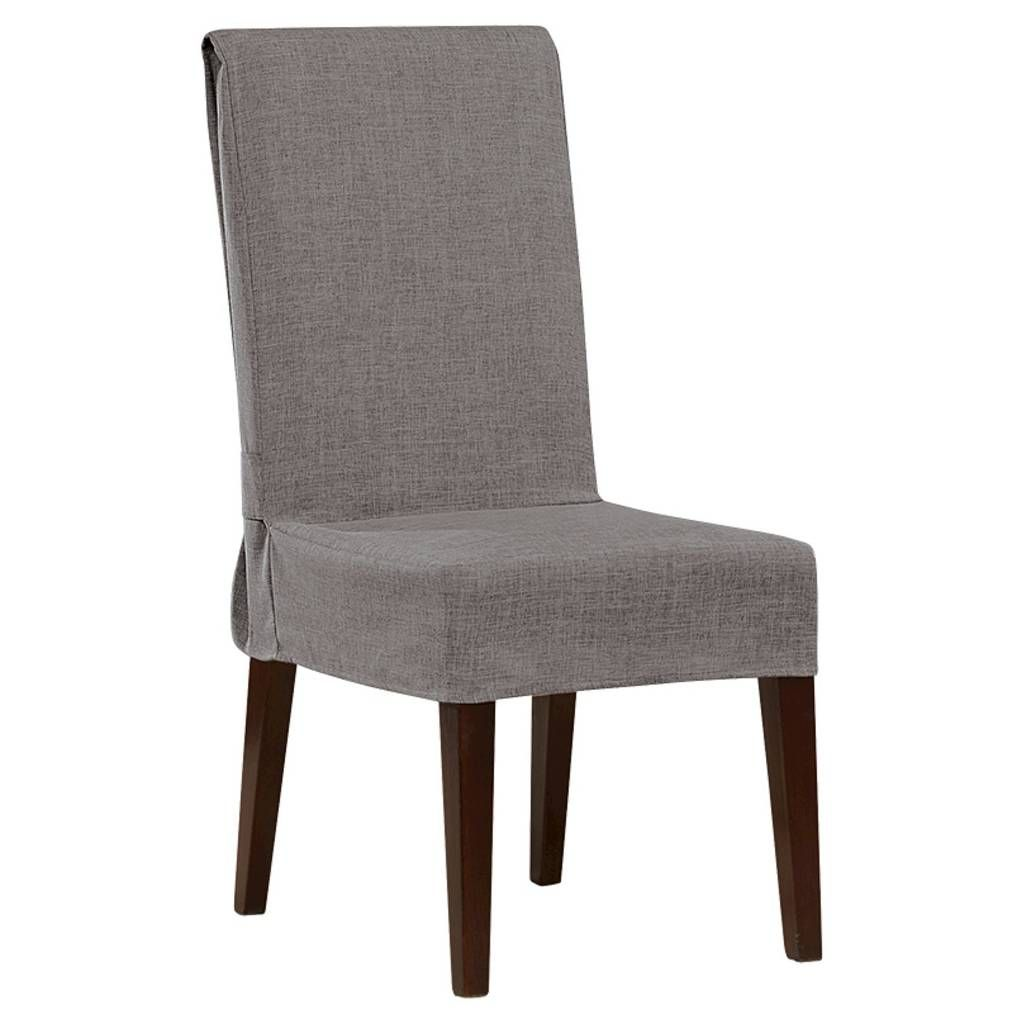Mason Short Dining Room Chair Slipcover Gray  Sure Fit  Dining Classy Grey Dining Room Chair Covers Design Inspiration