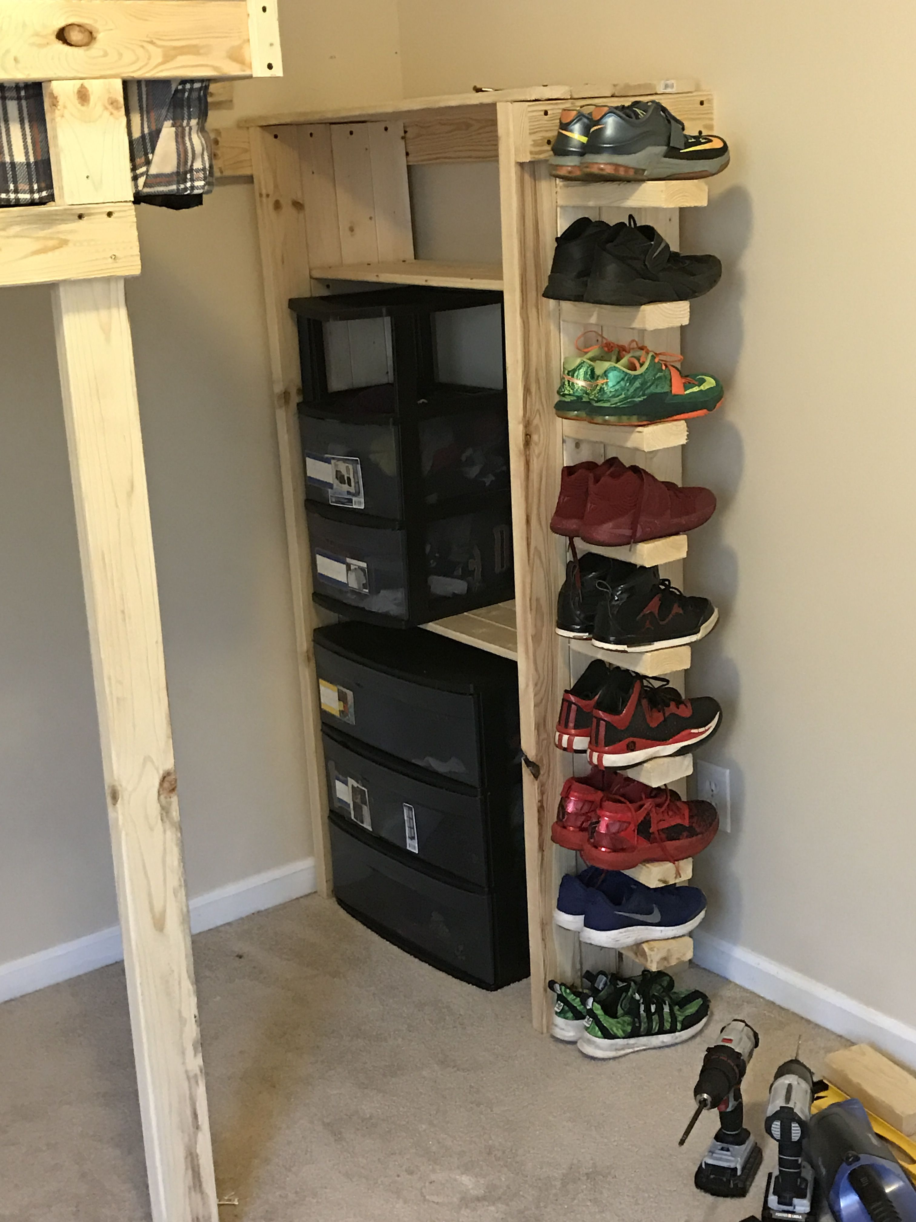 Pin By Howeidy Williams On Loft Bed And Shoe Rack Shoe Rack Loft Bed Home