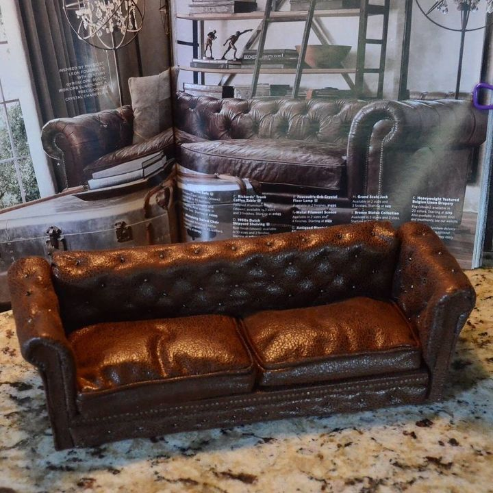 How to Make a Miniature Leather Couch