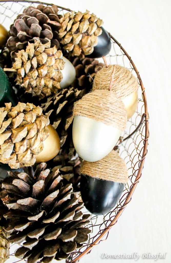 DIY Fall Acorns made from Easter eggs!