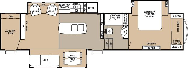 Cedar Creek Fifth Wheel By Forest River This Is The Floor Plan We - Forest river 5th wheel floor plans