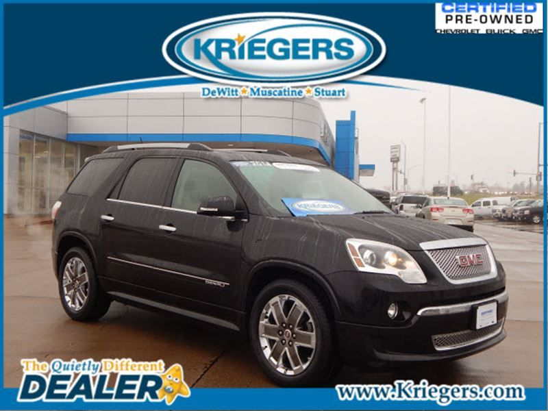 Used 2011 Gmc Acadia Denali For Sale In Muscatine Krieger Motor Company Muscatine Iowa 1gkkvted6bj236466 Automotive Sales Car Dealership Gmc