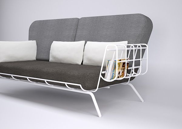 Contour Couch Lightweight Sofa Design On Behance 家具 プロダクト