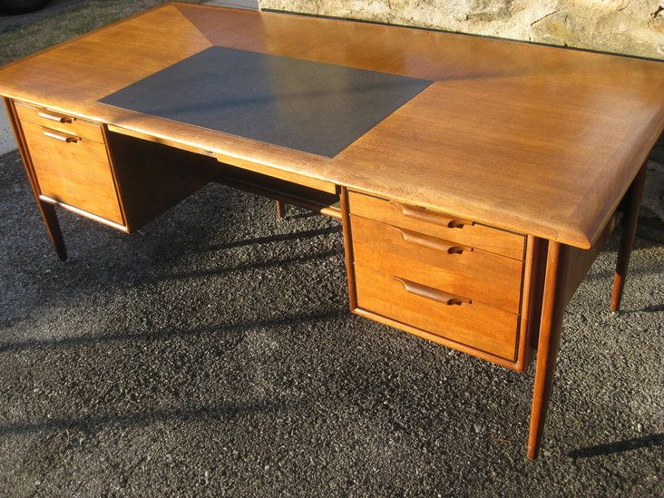 huge desk. Huge Mid-Century Walnut And Mahogany Executive Desk By Alma From Their \