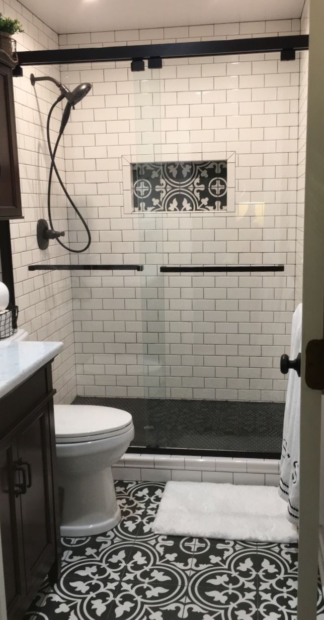 Small bathrooms are a great place to get creative! Here ...
