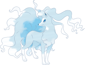 Pokémon Sun & Moon - Alola Form Pokémon Alolan Ninetales  Ice/Fairy-type