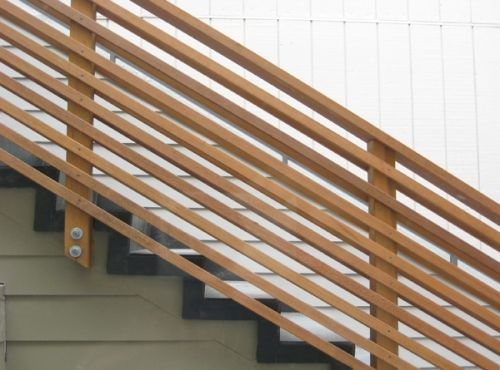 TO THE STUDS | Outdoor stair railing, Diy stair railing