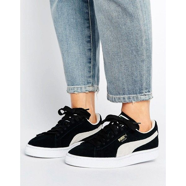 Puma Suede Classic Trainers In Black (€68) ❤ liked on ...