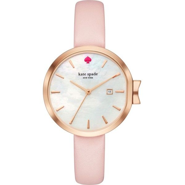 Kate Spade KSW1325 Park Row rosegold and leather watch 210