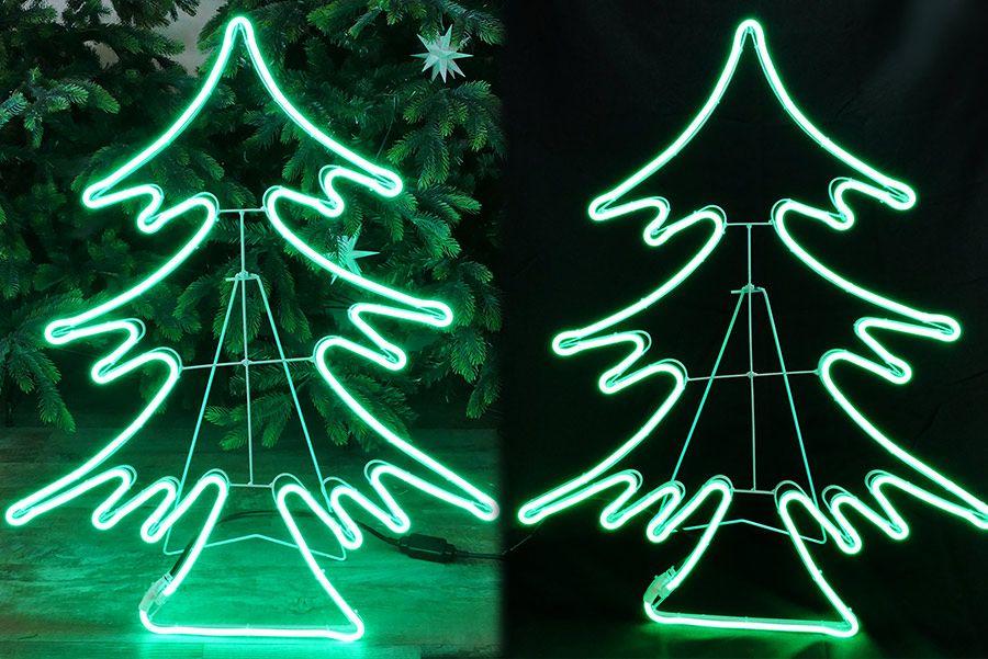 Tannenbaum Beleuchtet Aussen.Tannenbaum Beleuchtet Mit Neon Lichtschlauch Höhe 82 Cm Moderner