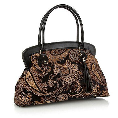 165cf9de91b Red Herring Black Paisley Tapestry Weekender Bag- at Debenhams.ie ...