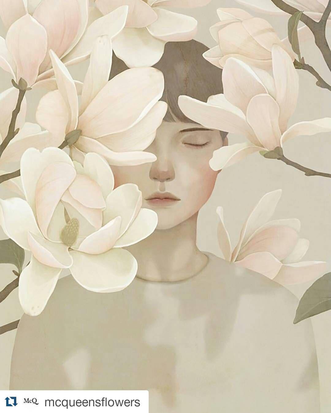 #Repost @mcqueensflowers with @repostapp ・・・ We've featured the wonderful work of artist and illustrator @jiwoon_pak in #McQueensTheBlog (direct link in bio) #jiwoonpak #McQueens #flowers  런던 플라워스쿨 맥퀸즈의 블로그에 제 작업이 소개되었어요:)