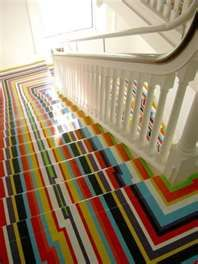 my husband would kill me but those of you who know me know I would so do this to my stairs LOL