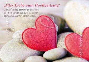 Alles Liebe Zum Hochzeitstag Doppelkarte Grafik Werkstatt