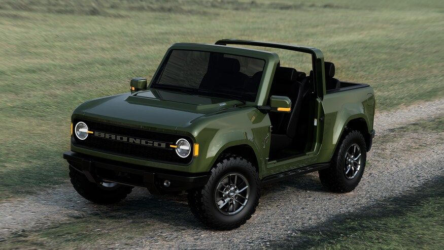 2021 Ford Bronco Imagined In Doorless Roofless Jeep Wrangler Mode In 2020 Ford Bronco Bronco New Bronco