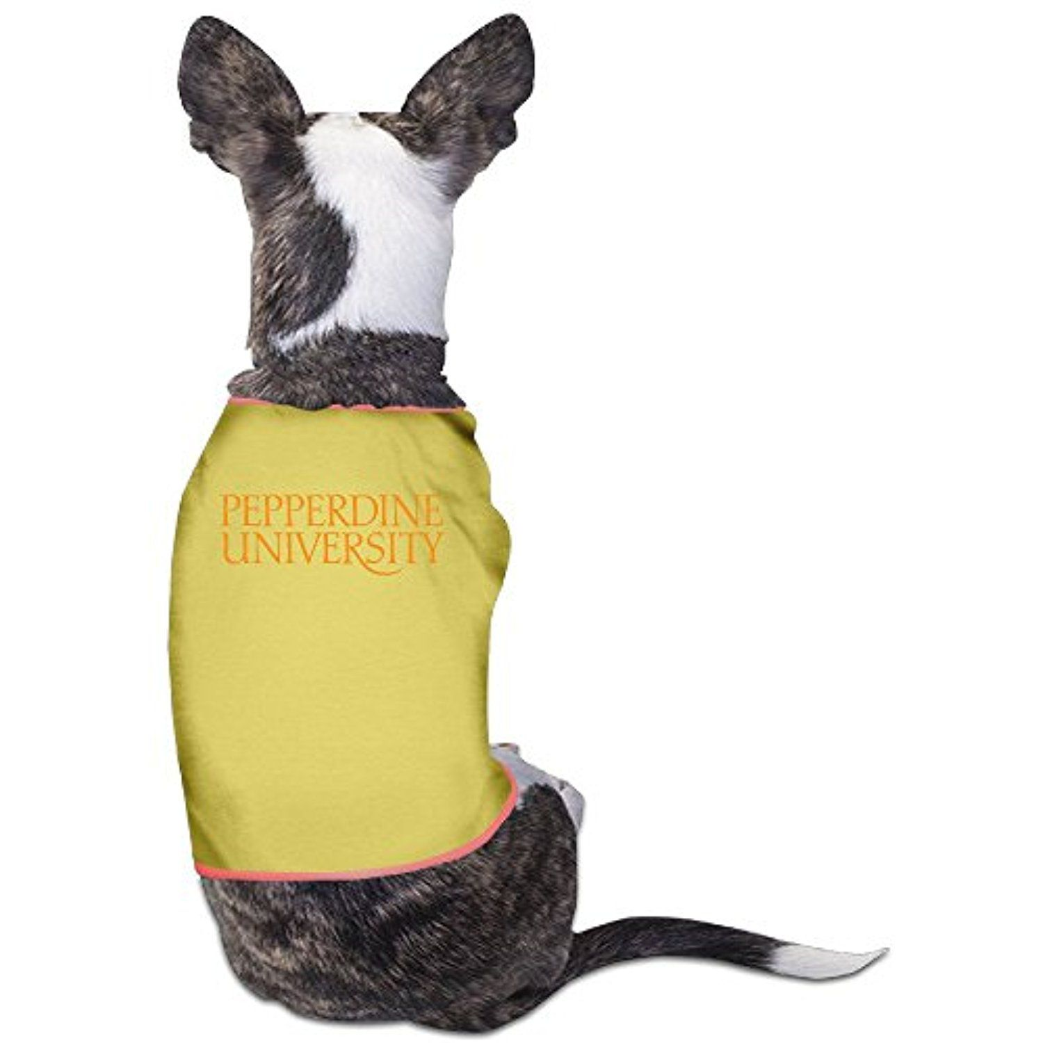 Pepperdine University Logo Pet Clothes Yellow You Can Read More