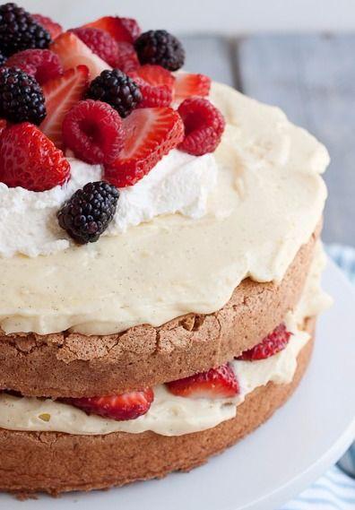 Portuguese Sponge Cake with Vanilla Bean Pastry Cream