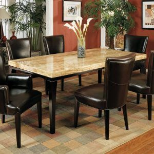 Room Travertine Dining Tables