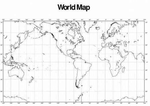 Longitude And Latitude World Map world map latitude and