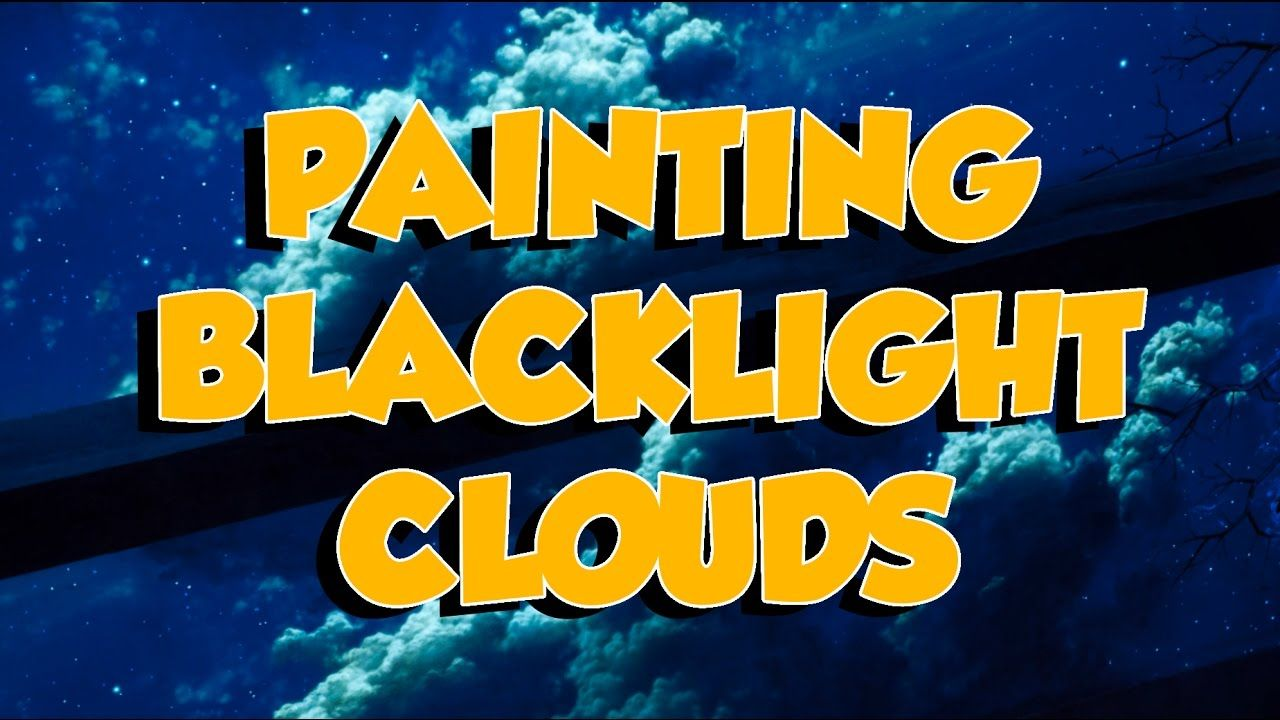 50 seconds: Sky Mural Cloud Ceiling, a blacklight mural time lapse ...