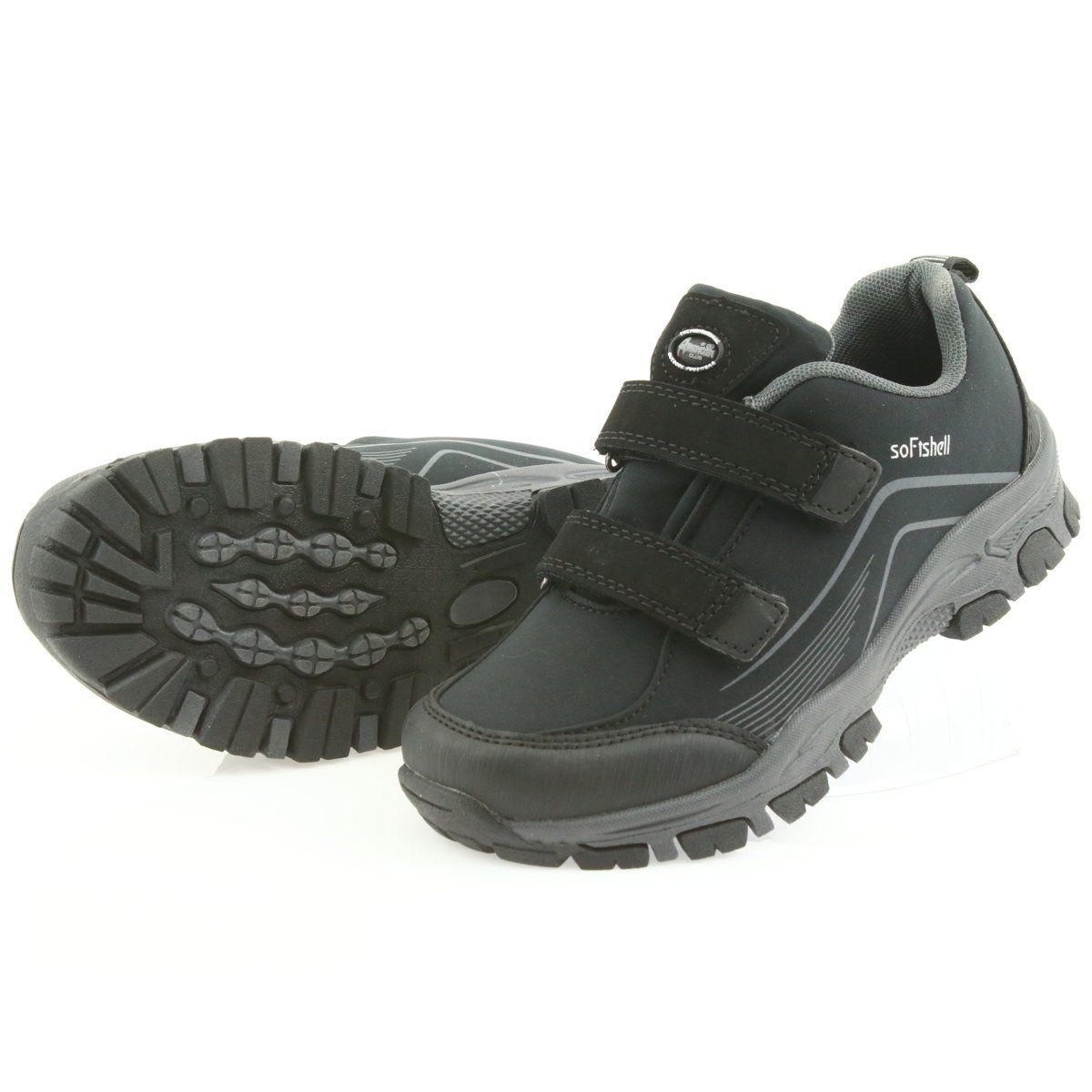 Adi Sportowe Buty Dzieciece Softshell American Club Czarne Szare Kid Shoes Childrens Shoes Trekking Shoes