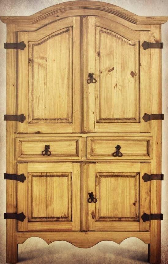 Rustic Wood Armoire U003c3