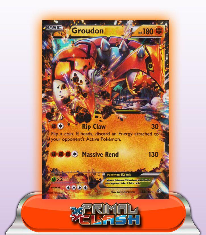 GROUDON EX HP180 - 85/160