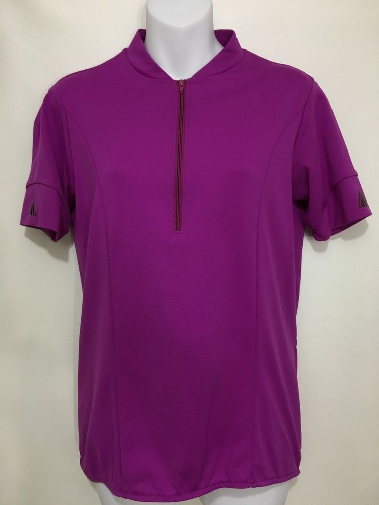 Cannondale Womens M Purple Bike Jersey 1 2 Zip Short Sleeve Cycling Made in  USA  Cannondale 95da7f078