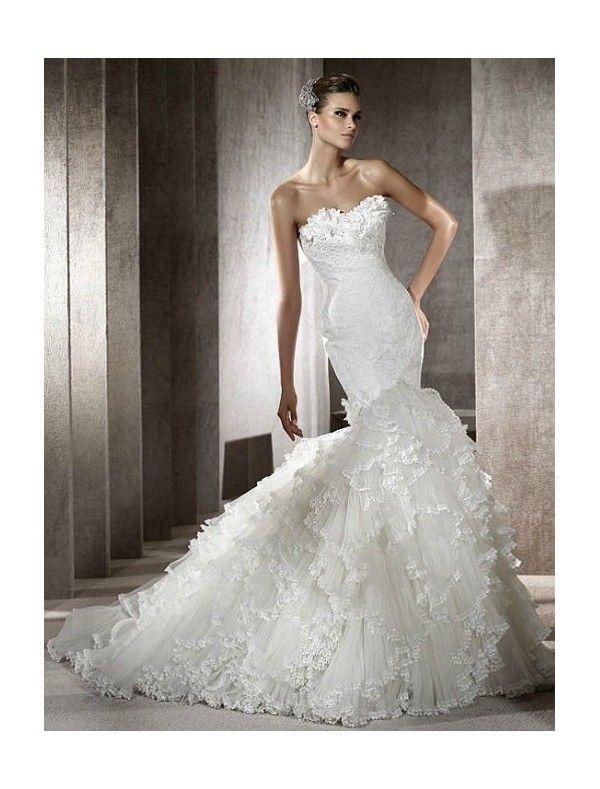 Collection Unique Mermaid Wedding Dresses Pictures - Reikian