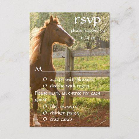 Equestrian Horse Rider Country Wedding RSVP | Zazzle.com