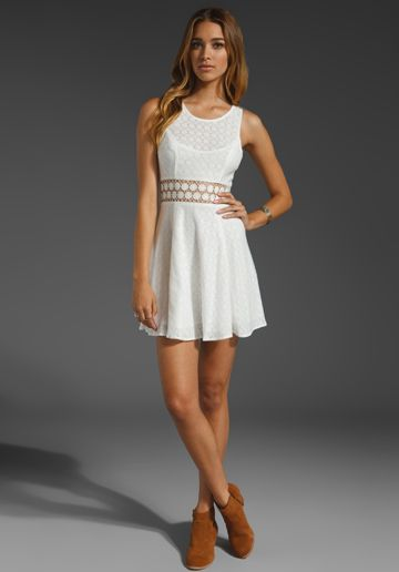 FREE PEOPLE Daisy Waist Dress in Ivory at
