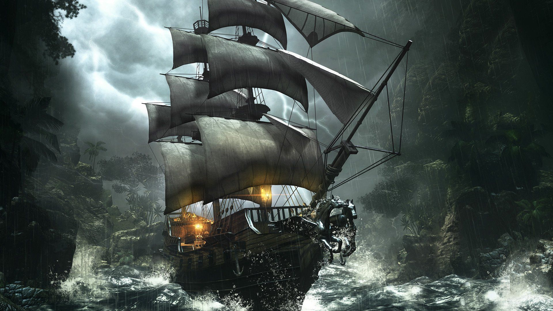 Pirate Ship Wallpaper High Definition #02c20 1920x1080 Px
