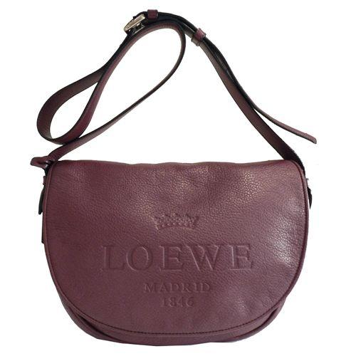 ¿Qué os parece este bolso bandolera de piel berenjena de LOEWE? Es el modelo Heritage Satchel: http://bit.ly/1ndfPD1 #sales #shopping #Loewe #moda #complementos