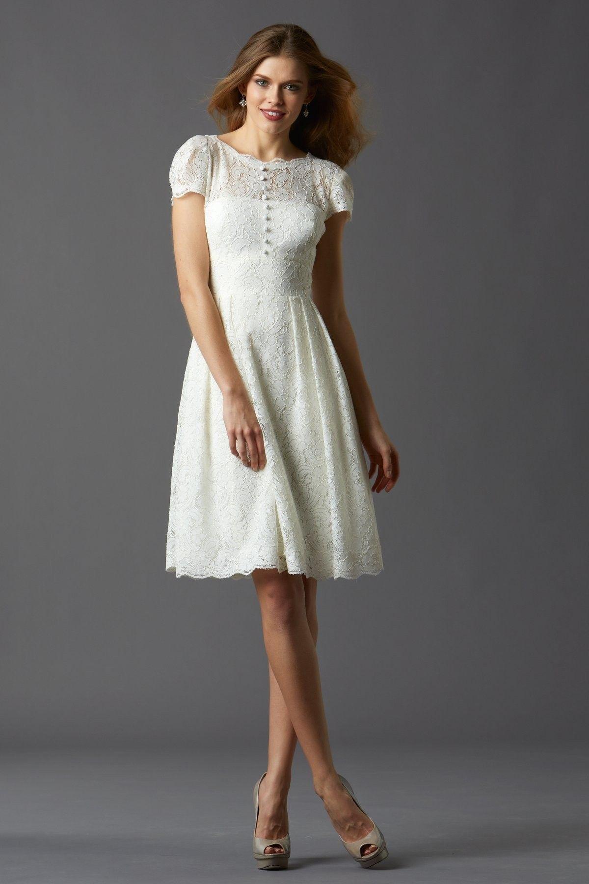 modern short wedding dress
