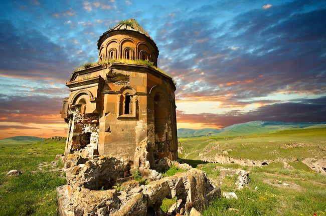 The Armenian church of St Gregory of the Abughamrents, Ani archaelogical site on the Ancient Silk Road , Kars , Anatolia, Turkey | Photos Gallery