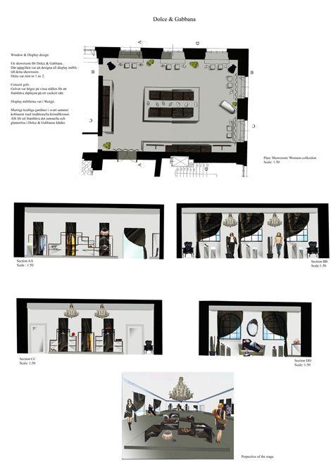 Hand Rendering Interior Design: Retail Design, Floor Plans