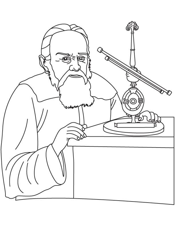 galileo galilei coloring pages