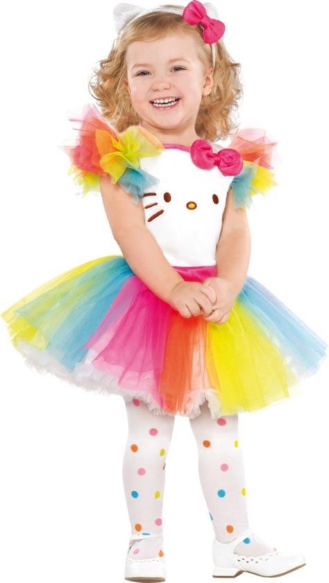 dfd6f3553 Fun and Colorful Baby Hello Kitty Tutu Costume. The tutu and the headband  could be made pretty easily! #HelloKitty #HelloKittyHalloween #Halloween # Costumes