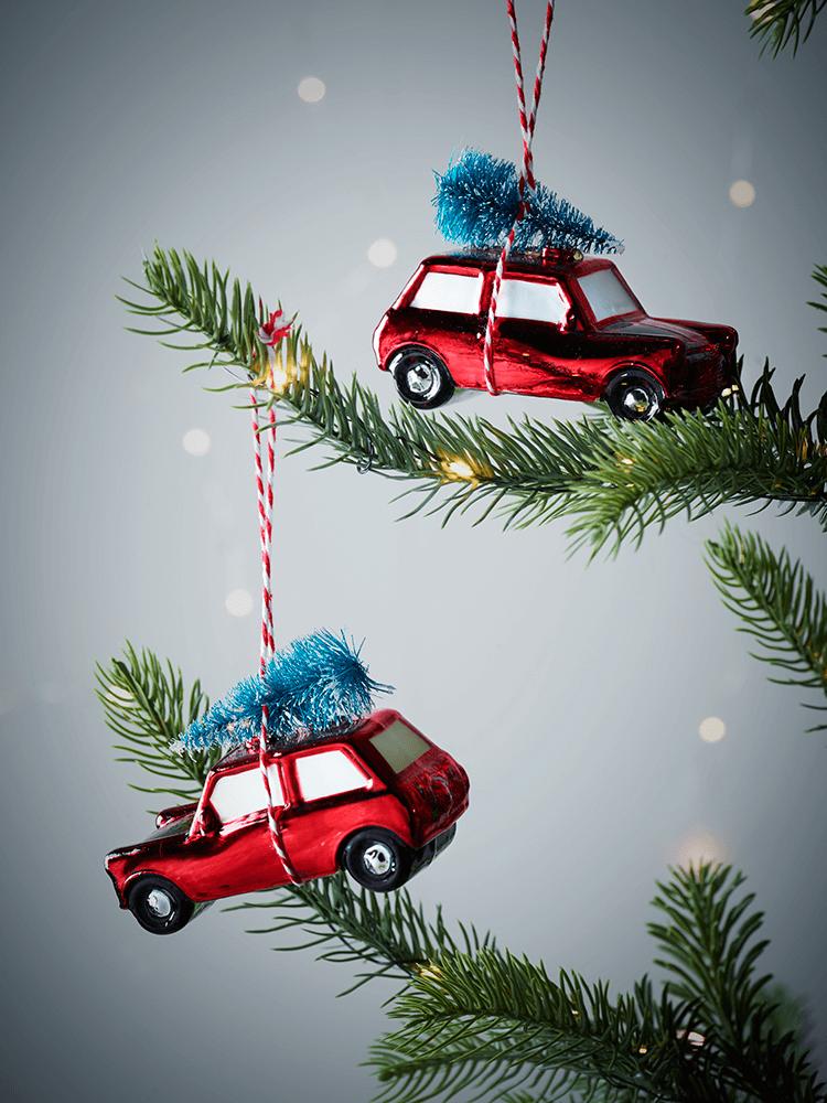 Two Vintage Car Decorations Decor Christmas