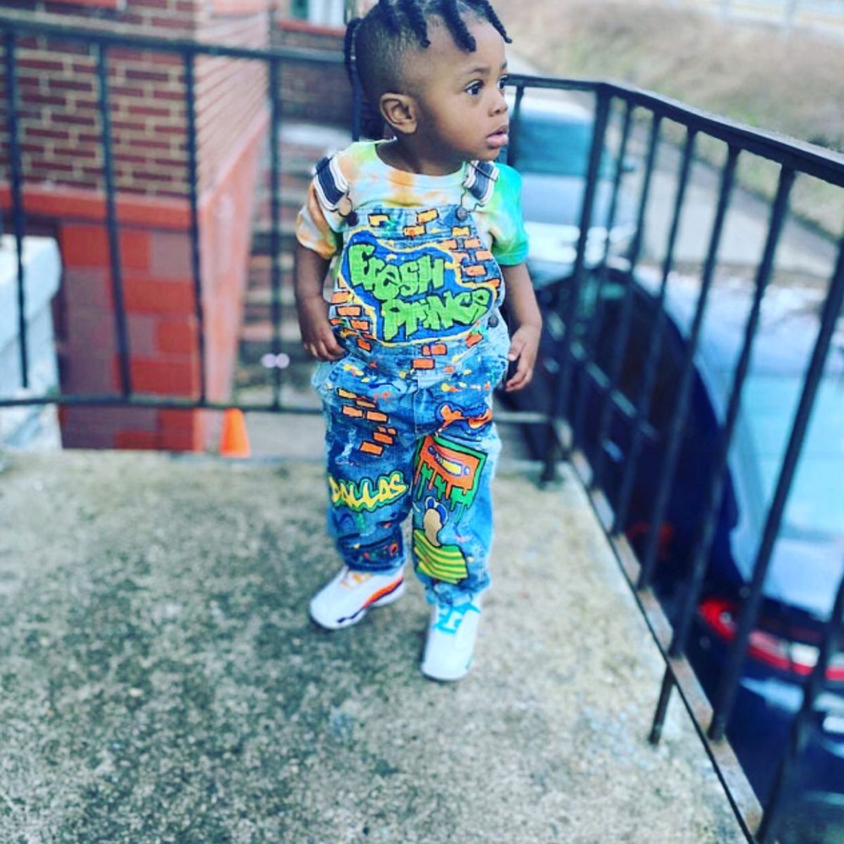 Fresh prince inspired birthday overalls!  Complete
