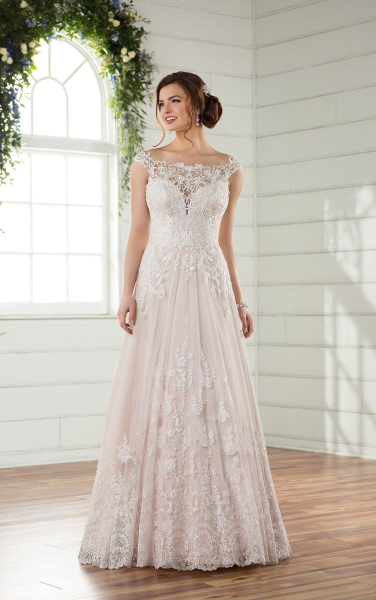 Essense of Australia D2327 Casual lace wedding dress