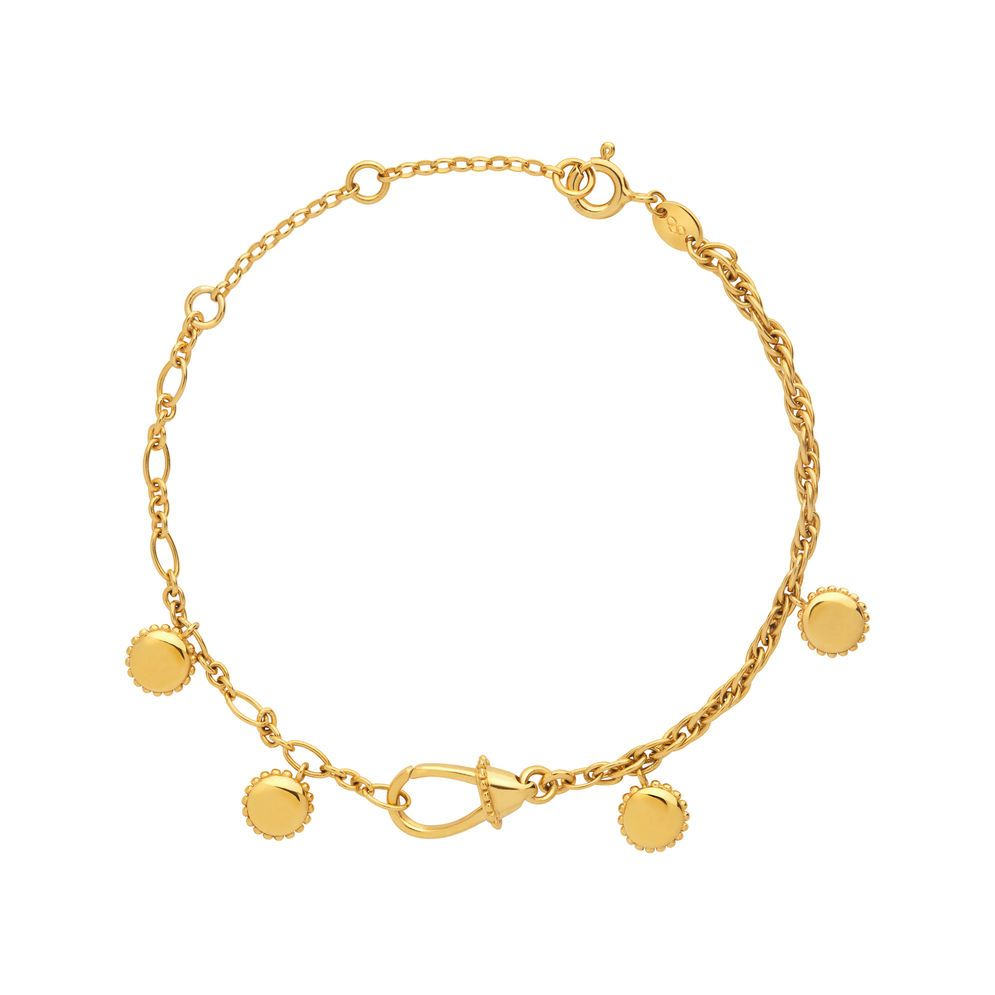 rodium and buy product chain stones coated gold anklet magic