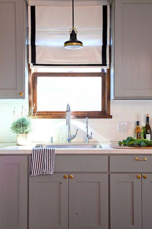 Rosa Beltran Design Kitchens Benjamin Moore Eagle Rock Gray - Warm grey kitchen cabinets
