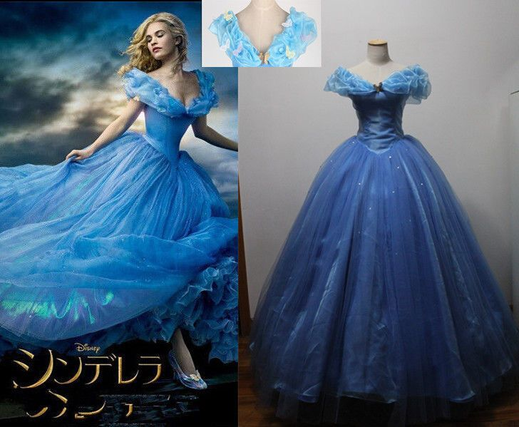 Kg Near Me >> Disney Movie Princess 2015 Cinderella Dress Made Cosplay Costume+8pc Butterfly #Unbranded # ...