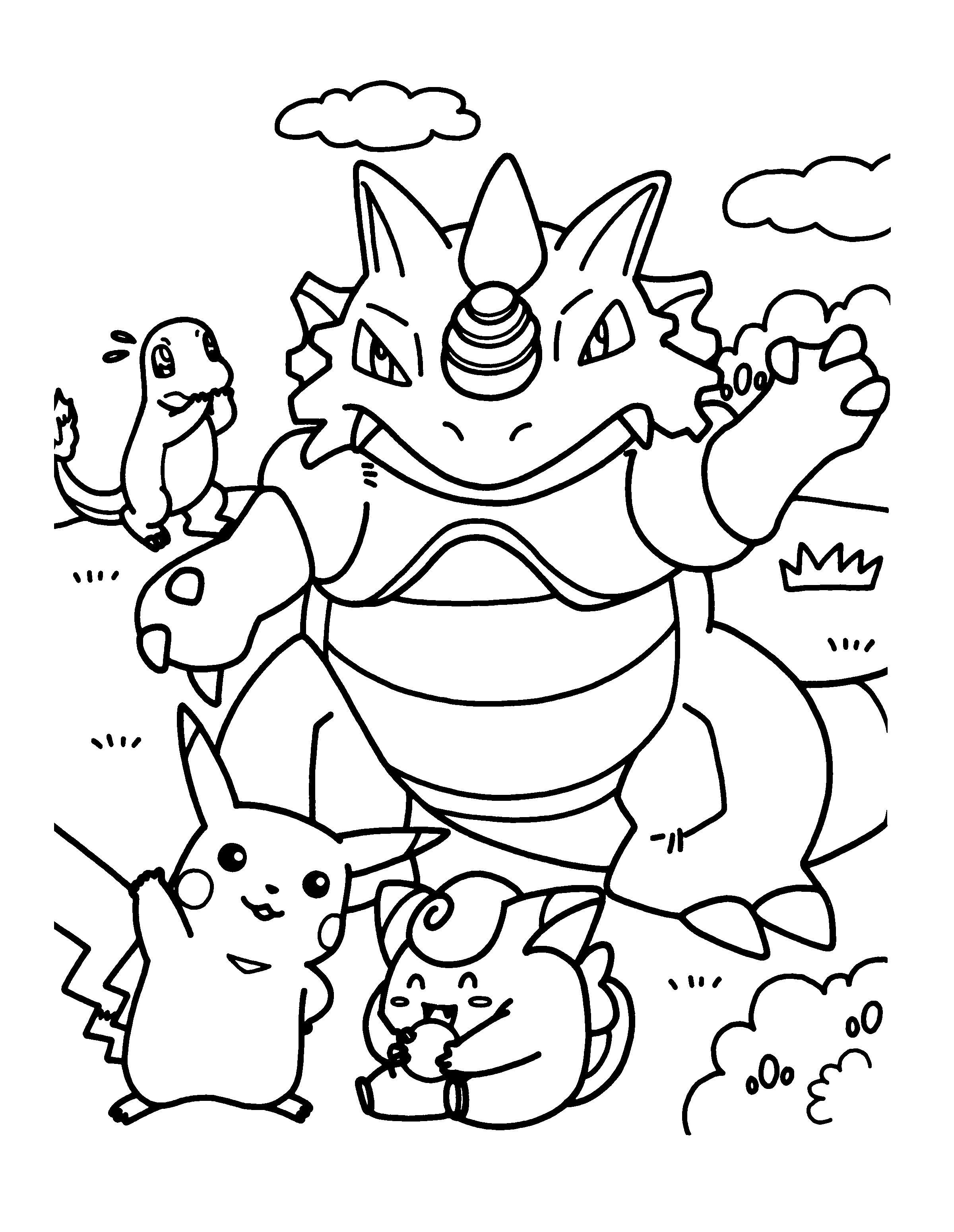 Image Pokemon Coloriage Pokemon Plusieurs Creatures 2