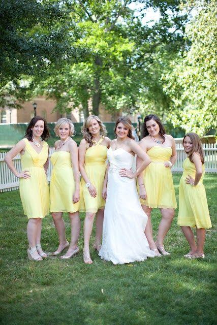Found on WeddingMeYou.com - Mismatched Bridesmaid Dresses – You're My Sunshine! yellow #bridesmaid dress